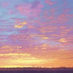 """Beth's Sunrise"" Oil on linen, 18x60"