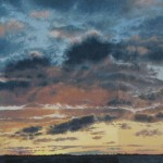 """January Sunrise"" Oil on linen, 24x68"