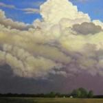 Lana Pendleton-Hall, Storm Brewing, Acrylic on Board