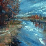 Best of Show: Sue Ann Ladd, Autumnal Glance, Oil on Canvas