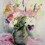 Christine Turnbull, Summer Flowers, Colored Pencil
