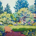 Virginia Kretz, Summer Garden, Gouache on Illustration Board