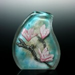 Donna Powers, My Grandmother's Garden, Hot Cast Glass