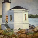 Vava Campbell, Oregon Lighthouse, Watercolor