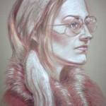 Angelika Manakhimova, Pink Glasses, Pastel