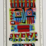 Contemplation Series - Enduring Images, fused glass 22x16 framed