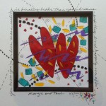 HeArt / personalized wedding gift, acrylic and pen 10x10 framed
