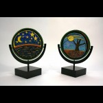 In Celebration of the World, painted ceramics