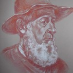 Amish Man, pastel pencil