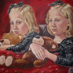 Portrait of Twins, oil on canvas