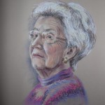 Lady in Purple, pastel
