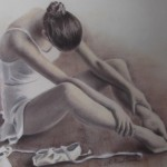 Tired Ballerina, pastel