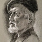Portrait of an Artist, charcoal