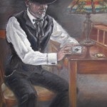 Poker Player, pastel