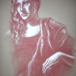 Sultry, pastel pencil