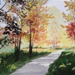 Ellie Miller, Goodmorning Swan Creek Park, watercolor