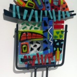 Linda Sattler, Celebrate 1, fused glass