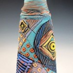 Mary Ellen Taylor, Golden Moments Vase, ceramics