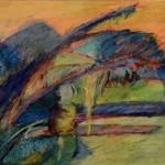 Kay Weprin, England's Best, oil pastel