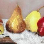 Dottie Nortz, Four Pears, pastel