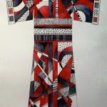 Linda Sattler, Black and Red Kimono 2, watercolor, pen & ink