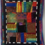 Joan Rigal, Village Square, art quilt