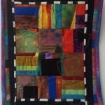 Joan Rigal, Village Square, art quilt