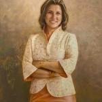 Best of Show, JENNIFER GIOVANNUCCI, Professor Sonia Nahlar, oil on canvas