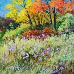 JOAN PALOMBI, Wild flowers in Wildwood, oil