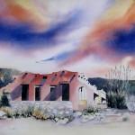 KAY KOCHER, The Hacienda, watercolor