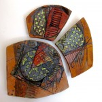 MARY ELLEN TAYLOR, Coming Together, ceramic wall sculpture