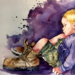 SUSAN SEMENICK, His Daddy's Shoes, watercolor