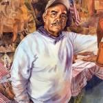 Jane Williams, Raul, watercolor