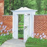 Carol Connelly Pletz, Manor House Garden Gate, acrylic