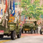 Kathy Palmer Genzman, Love That Jeep Parade, watercolor