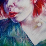 Mary Mossing Krueger, Edgy, colored pencil on drafting film