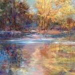 Sue Ann Ladd, Autumnal Passage, oil on copper