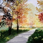 Ellie Miller, Good Morning Swan Creek Park, watercolor