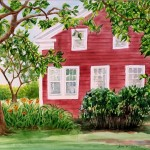 Jan Vezner, Summer at Wolcott House, watercolor