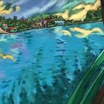 Jane Williams, Petan Itza (full image), acrylic on canvas
