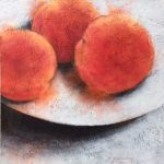 Kathy Funderburg, Peachy Keen, acrylic on panel
