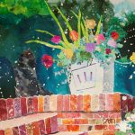 Claire Wilson, Improbable Flowerbox, watercolor collage