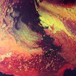 Joan Palombi, Lava Flow, acrylic