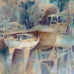 Betty Jean Jacobson, Awaiting Dreams, watercolor