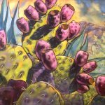 Jane Williams, Prickly Plums, oil on canvas