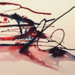 Marilyn Horner, Exciting Broken Bike, ink