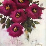 Kathy Funderburg, Hot Pinks, acrylic
