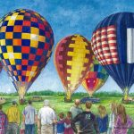 Kathy Genzman, Flying High, watercolor