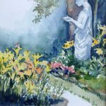 Sharon Rapp, Offering, watercolor