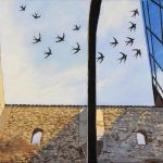 Carol Connolly Pletz, Spanish Swallows, acrylic